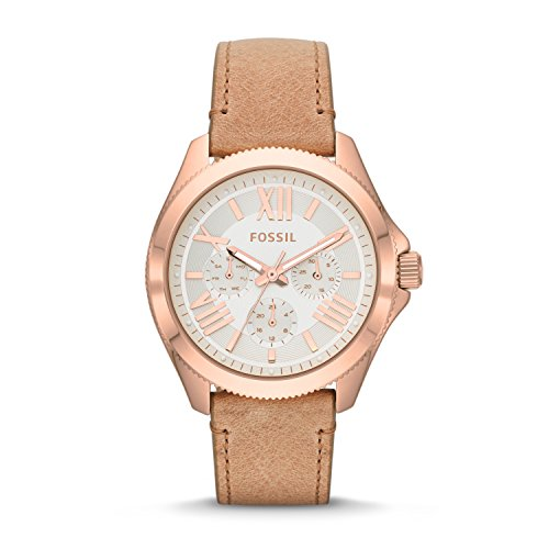 フォッシル 腕時計 レディース AM4532 【送料無料】Fossil Women's AM4532 Cecile Multifunction Gold-Tone Stainless Steel Watch with Brown Bandフォッシル 腕時計 レディース AM4532