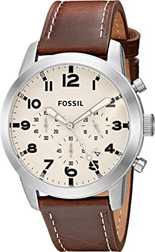 フォッシル 腕時計 メンズ FS5146 Fossil Men's FS5146 Pilot 54 Chronograph Watch with Brown Leather Bandフォッシル 腕時計 メンズ FS5146