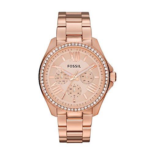 フォッシル 腕時計 レディース AM4483 Fossil Women's AM4483 Cecile Rose Gold-Tone Watch with Crystalsフォッシル 腕時計 レディース AM4483