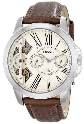 フォッシル 腕時計 メンズ ME1144 Fossil Men's ME1144 Grant Twist Multifunction Leather Watch - Brownフォッシル 腕時計 メンズ ME1144