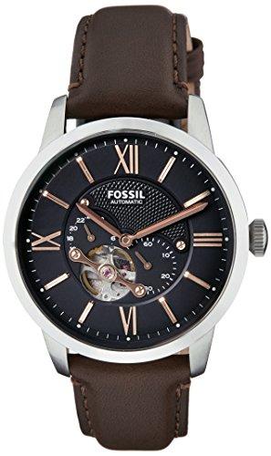 フォッシル 腕時計 メンズ ME3061 【送料無料】Fossil Men's ME3061 Townsman Mechanical Stainless Steel Watch with Brown Leather Bandフォッシル 腕時計 メンズ ME3061