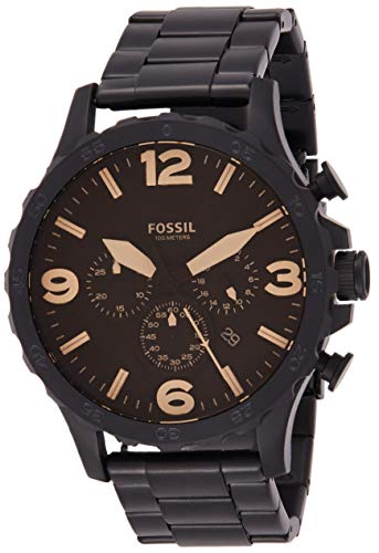 フォッシル 腕時計 メンズ JR1356 【送料無料】Fossil Men's Nate Quartz Stainless Steel Chronograph Watch, Color: Black (Model: JR1356)フォッシル 腕時計 メンズ JR1356