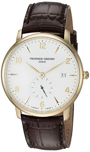 フレデリックコンスタント フレデリック・コンスタント 腕時計 メンズ FC-245VA5S5 【送料無料】Frederique Constant Men's Slimline Swiss-Quartz Watch with Leather Strap, Brフレデリックコンスタント フレデリック・コンスタント 腕時計 メンズ FC-245VA5S5