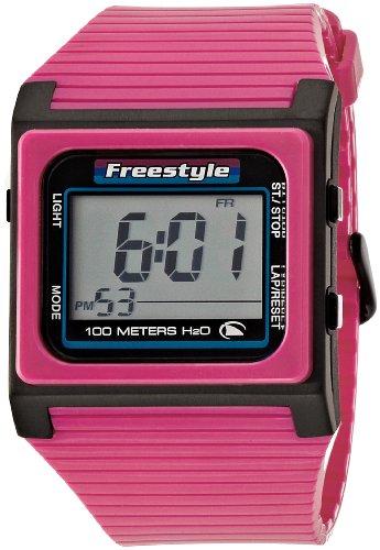 フリースタイル 腕時計 レディース アウトドアウォッチ特集 FS84853 【送料無料】Freestyle Unisex FS84853 Speed Dial Digital Pink and Black Polyurethane Watchフリースタイル 腕時計 レディース アウトドアウォッチ特集 FS84853