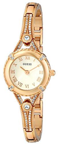 ゲス GUESS 腕時計 レディース U0135L2 GUESS Petite Vintage Inspired Gold-Tone Crystal Bracelet Watch with Self-Adjustable Links. Color: Gold-Tone (Model: U0135L2)ゲス GUESS 腕時計 レディース U0135L2