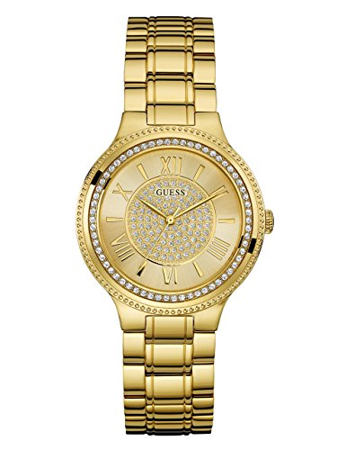 ゲス GUESS 腕時計 レディース U0637L2 GUESS Women's Satinless Steel Crystal Accented Watch, Color: Gold-Tone (Model: U0637L2)ゲス GUESS 腕時計 レディース U0637L2