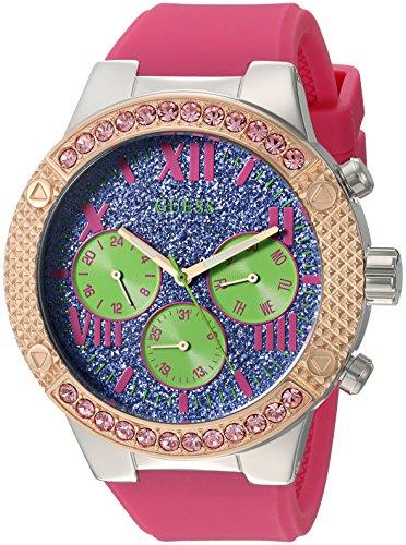 ゲス GUESS 腕時計 レディース U0772L4 GUESS Women's U0772L4 Sporty Rose Gold-Tone Stainless Steel Watch with Multi-function Dial and Pink Strap Buckleゲス GUESS 腕時計 レディース U0772L4