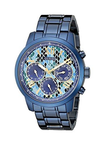 ゲス GUESS 腕時計 レディース U0330L17 【送料無料】GUESS Women's U0330L17 Iconic Indigo Blue Python Print Multi-Function Watchゲス GUESS 腕時計 レディース U0330L17