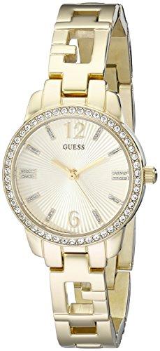 ゲス GUESS 腕時計 レディース U0568L2 GUESS Women's U0568L2 Iconic Gold-Tone Logo Watch with Genuine Crystals & Self-Adjustable Linksゲス GUESS 腕時計 レディース U0568L2