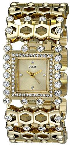 ゲス GUESS 腕時計 レディース U0574L2 【送料無料】GUESS Women's U0574L2 Gold-Tone Watch with Crystals & Adjustable Linksゲス GUESS 腕時計 レディース U0574L2