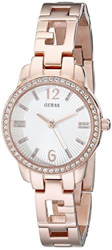 ゲス GUESS 腕時計 レディース U0568L3 【送料無料】GUESS Women's U0568L3 Iconic Rose Gold-Tone Logo Watch with Genuine Crystals & Self-Adjustable Linksゲス GUESS 腕時計 レディース U0568L3