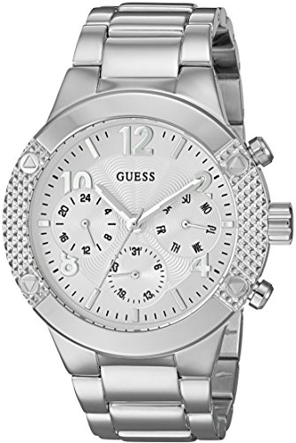 ゲス GUESS 腕時計 レディース U0849L1 【送料無料】GUESS Women's U0849L1 Sporty Silver-Tone Stainless Steel Watch with Multi-function Dial and Pilot Buckleゲス GUESS 腕時計 レディース U0849L1