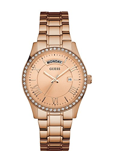 腕時計 ゲス GUESS レディース U0764L3 【送料無料】GUESS Women's U0764L3 Dressy Rose Gold-Tone Stainless Steel Multi-Function Watch with Day & Date Dial and Pilot Buckle腕時計 ゲス GUESS レディース U0764L3