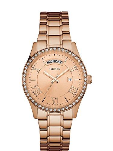 腕時計 ゲス GUESS レディース U0764L3 【送料無料】GUESS Women's U0764L3 Dressy Rose Gold-Tone Stainless Steel Multi-Function Watch with Day & Date Dial and Pilot Buckle腕時計 ゲス GUESS レディース U0764L3