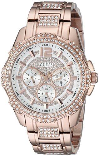 ゲス GUESS 腕時計 レディース U0286L2 【送料無料】GUESS Women's U0286L2 Sporty Rose Gold-Tone Stainless Steel Watch with Multi-function Dial and Pilot Buckleゲス GUESS 腕時計 レディース U0286L2