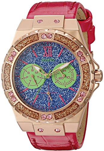 ゲス GUESS 腕時計 レディース U0775L4 【送料無料】GUESS Women's U0775L4 Sporty Rose Gold-Tone Stainless Steel Watch with Multi-function Dial and Pink Strap Buckleゲス GUESS 腕時計 レディース U0775L4