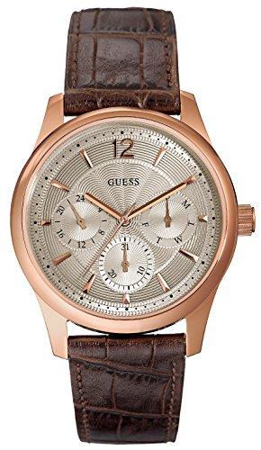 ゲス GUESS 腕時計 メンズ W0475G2 【送料無料】Guess W0475G2 Leather Mens Watch - Silver Dialゲス GUESS 腕時計 メンズ W0475G2