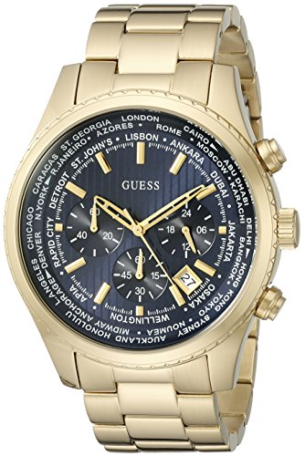 ゲス GUESS 腕時計 メンズ U0602G1 GUESS Men's Quartz Watch with Stainless-Steel Strap, Gold, 22 (Model: U0602G1)ゲス GUESS 腕時計 メンズ U0602G1