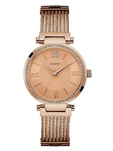 ゲス GUESS 腕時計 レディース U0638L4 【送料無料】GUESS Rose Gold-Tone Stainless Steel Crystal Bangle Bracelet Watch with Self-Adjustable Links. Color: Rose Gold-Tone (Model: U0638L4)ゲス GUESS 腕時計 レディース U0638L4