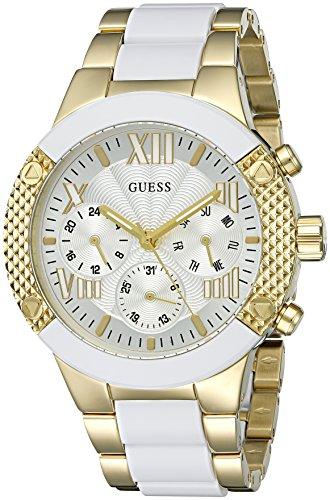 ゲス GUESS 腕時計 レディース U0770L1 【送料無料】GUESS Women's U0770L1 Sporty Gold-Tone Stainless Steel Watch with Multi-function Dial and Pilot Buckleゲス GUESS 腕時計 レディース U0770L1