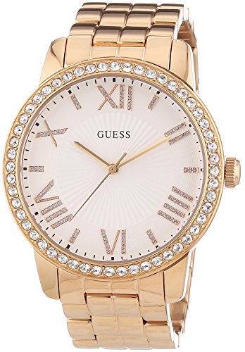 ゲス GUESS 腕時計 レディース W0329L3 【送料無料】Guess Women's W0329L3 Quartz Watch with White Dial Analogue Display and Rose Gold Stainless Steel Braceletゲス GUESS 腕時計 レディース W0329L3