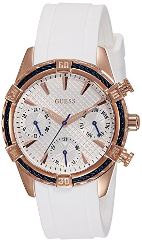 ゲス GUESS 腕時計 レディース W0562L1 【送料無料】Guess W0562L1 29mm Gold Plated Stainless Steel Case White Silicone Mineral Women's Watchゲス GUESS 腕時計 レディース W0562L1
