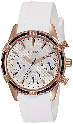 ゲス GUESS 腕時計 レディース W0562L1 【送料無料】Guess W0562L1 29mm Gold Plated Stainless Steel Case White Silicone Mineral Women's Watchゲス GUESS 腕時計 レディース W0562L1