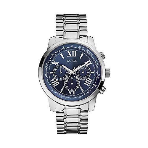ゲス GUESS 腕時計 メンズ W0379G3 Guess HORIZON W0379G3 45mm Silver Steel Bracelet & Case Mineral Men's Watchゲス GUESS 腕時計 メンズ W0379G3