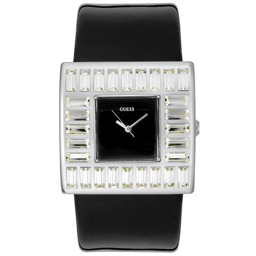ゲス GUESS 腕時計 レディース W11524L5 【送料無料】GUESS? Women's W11524L5 Crystal Accented Black Patent Leather Watchゲス GUESS 腕時計 レディース W11524L5