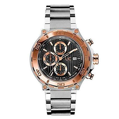 腕時計 ゲス GUESS メンズ X56008G2S 【送料無料】GC Men's 44mm Steel Bracelet & Case Sapphire Crystal Quartz Black Dial Analog Watch X56008G2S腕時計 ゲス GUESS メンズ X56008G2S