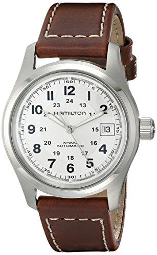 ハミルトン 腕時計 メンズ HML-H70455553 【送料無料】Hamilton Men's HML-H70455553 Khaki Field Stainless Steel Automatic Watch with Brown Leather Bandハミルトン 腕時計 メンズ HML-H70455553