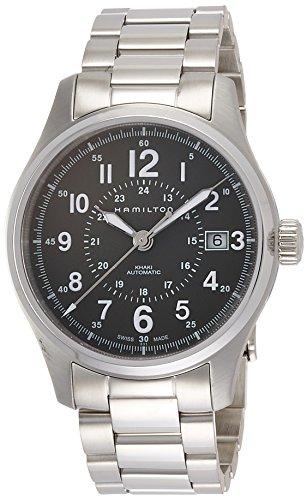 腕時計 ハミルトン メンズ H70595163 【送料無料】Hamilton Men's Khaki Field Swiss-Automatic Watch with Stainless-Steel Strap, Silver, 20 (Model: H70595163)腕時計 ハミルトン メンズ H70595163