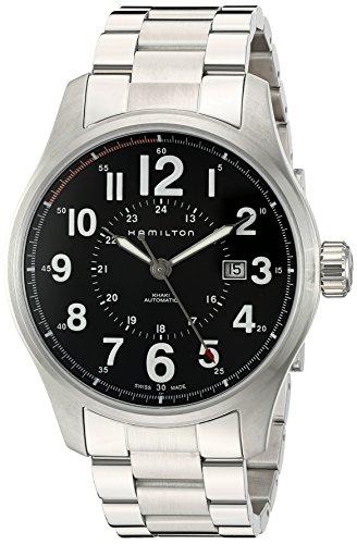 腕時計 ハミルトン メンズ H70615133 【送料無料】Hamilton Men's H70615133 Khaki Field Officer Black Dial Watch腕時計 ハミルトン メンズ H70615133