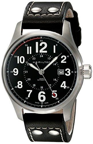 ハミルトン 腕時計 メンズ H70615733 【送料無料】Hamilton Men's H70615733 Khaki Officer Black Dial Watchハミルトン 腕時計 メンズ H70615733