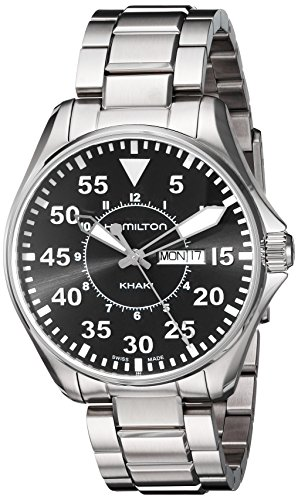 ハミルトン 腕時計 メンズ H64611135 【送料無料】Hamilton Men's H64611135 Khaki Pilot Black Dial Watchハミルトン 腕時計 メンズ H64611135