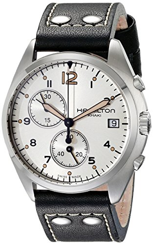 ハミルトン 腕時計 メンズ H76512755 【送料無料】Hamilton Men's H76512755 Khaki Aviation Stainless Steel Watch with Black Genuine Leather Bandハミルトン 腕時計 メンズ H76512755