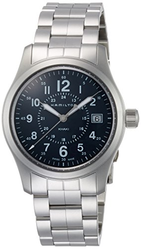 腕時計 ハミルトン メンズ H68201143 【送料無料】Hamilton Khaki Field Quartz H68201143 Blue/Silver Stainless Steel Analog Quartz Men's Watch腕時計 ハミルトン メンズ H68201143:angelica