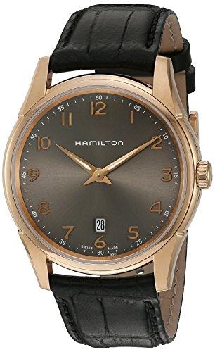 ハミルトン 腕時計 メンズ H38541783 【送料無料】Hamilton Men's 'Jazzmaster' Swiss Quartz Gold and Leather Watch, Color:Black (Model: H38541783)ハミルトン 腕時計 メンズ H38541783