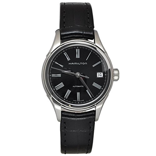 ハミルトン 腕時計 メンズ H39415734 【送料無料】Hamilton Men's H39415734 American Classic Valiant Stainless Steel Automatic Watch with Black Leather Bandハミルトン 腕時計 メンズ H39415734