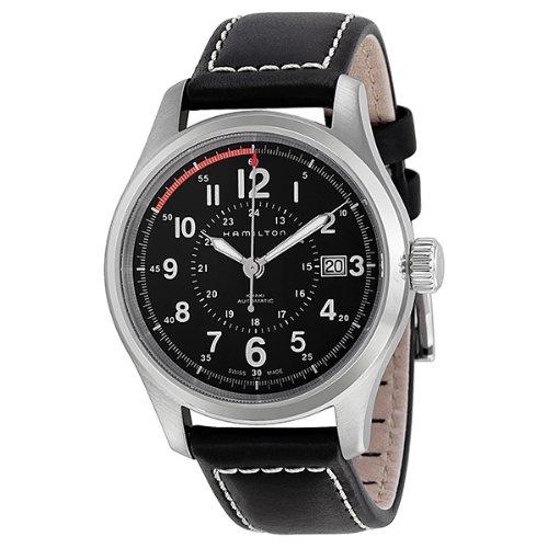 ハミルトン 腕時計 メンズ H70595733 【送料無料】Hamilton Men's HML-H70595523 Khaki Field Analog Swiss Automatic Black Watchハミルトン 腕時計 メンズ H70595733