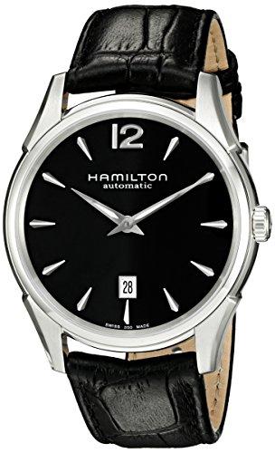 腕時計 ハミルトン メンズ H38615735 【送料無料】Hamilton Men's H38615735 Jazzmaster Slim Black Dial Watch腕時計 ハミルトン メンズ H38615735