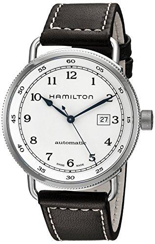 腕時計 ハミルトン メンズ H77715553 【送料無料】Hamilton Men's H77715553 Khaki Navy Stainless Steel Watch with Brown Band腕時計 ハミルトン メンズ H77715553