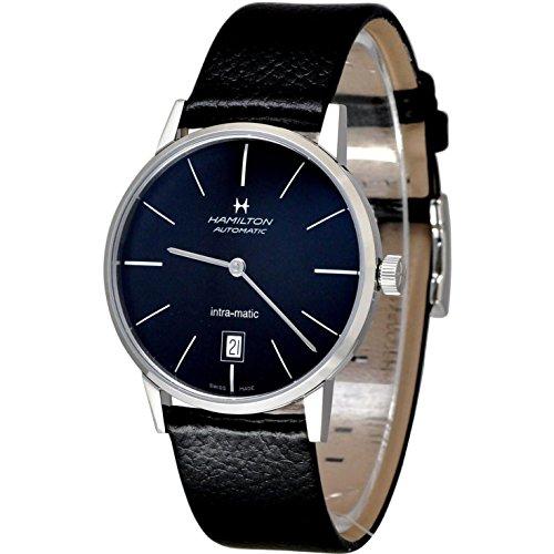 ハミルトン 腕時計 メンズ H38455731 【送料無料】Hamilton Intra-Matic Black Dial Leather Mens Watch H38455731ハミルトン 腕時計 メンズ H38455731