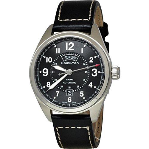 ハミルトン 腕時計 メンズ H70505733 【送料無料】Hamilton Khaki Field Blacl Dial Black Leather Mens Watch H70505733ハミルトン 腕時計 メンズ H70505733
