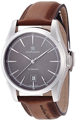 腕時計 ハミルトン メンズ H42415591 【送料無料】Hamilton Men's Timeless Classic Stainless Steel Swiss-Automatic Watch with Leather Calfskin Strap, Brown, 22 (Model: H42415591)腕時計 ハミルトン メンズ H42415591
