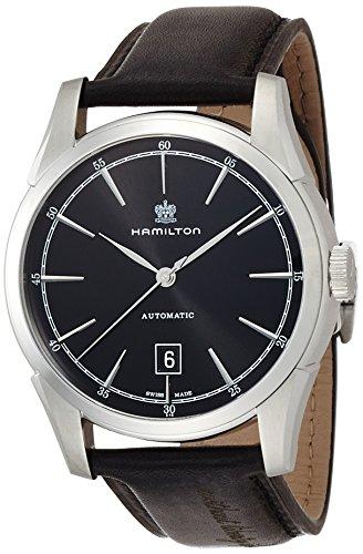 ハミルトン 腕時計 メンズ H42415731 【送料無料】Hamilton Men's Timeless Classic Stainless Steel Swiss-Automatic Watch with Leather Calfskin Strap, Black, 22 (Model: H42415731)ハミルトン 腕時計 メンズ H42415731