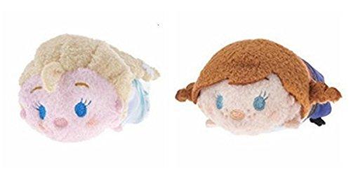 アナと雪の女王 アナ雪 ディズニープリンセス フローズン Disney Frozen Mini Tsum Tsum Anna and Elsa 2 Item Bundle 3.5 inch Plushアナと雪の女王 アナ雪 ディズニープリンセス フローズン