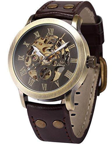 【送料無料】【当店1年保証】AMPM24 スチームパンク メンズ腕時計 自動巻き ブロンズ&ブラウン スケルトン ケースサイズ43mm