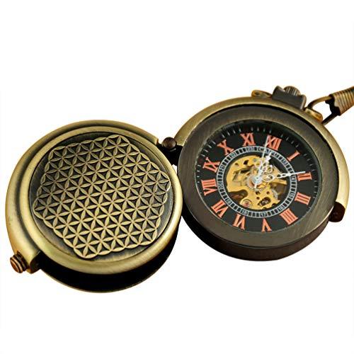 スチームパンク steampunk メンズ 腕時計 懐中時計 WA244 【送料無料】VIGOROSO Men's Retro Archaize Bronze Unique Hide Carved Steampunk Chain Mechanical Pocket Watch in Boxスチームパンク steampunk メンズ 腕時計 懐中時計 WA244