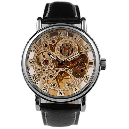 スチームパンク steampunk メンズ 腕時計 懐中時計 1220-W Steampunk Mechanical Watch Skeleton Luxury Mens Watches Man Leather Wrist Watchスチームパンク steampunk メンズ 腕時計 懐中時計 1220-W